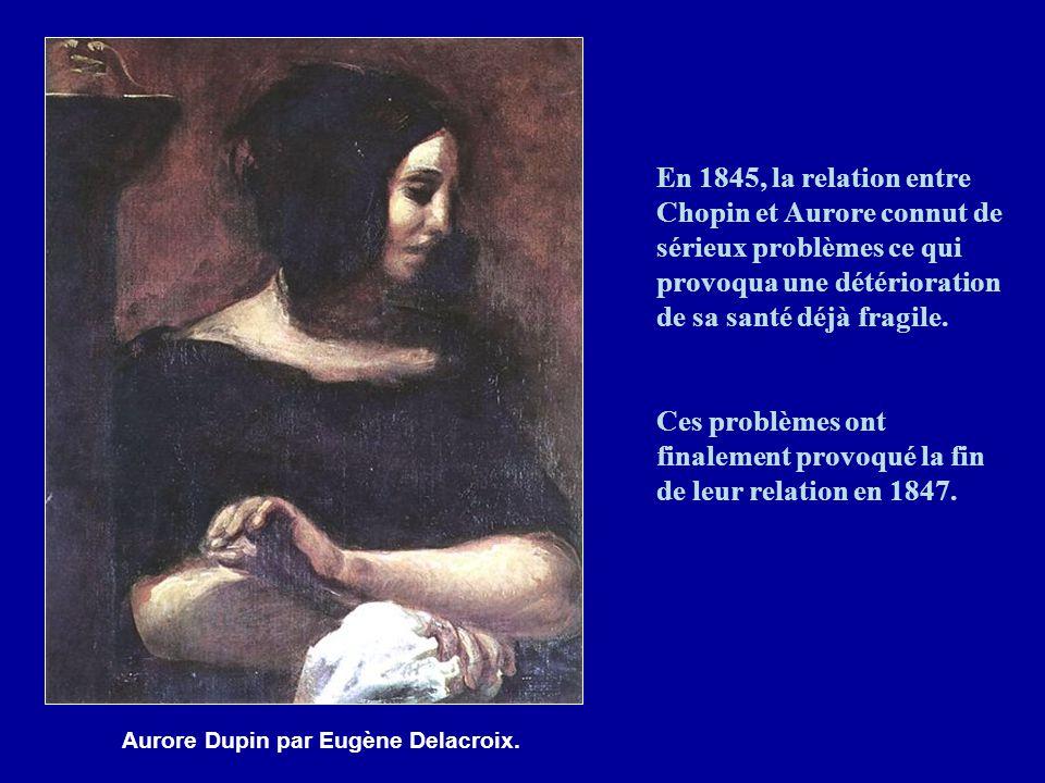 Chopin passa de longues périodes à Nohant, de 1838 à 1847, où son état de santé s'améliora notablement.