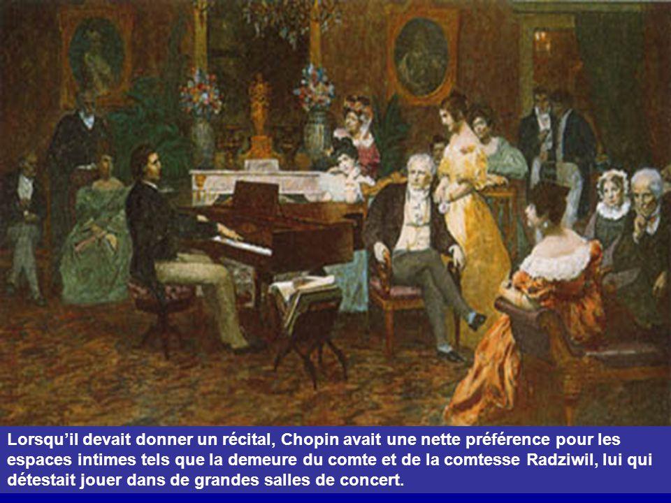 Maria Wodzinska était l'élève de Chopin; elle a peint son autoportrait et le lui a offert. Ils se fiancèrent mais Maria se laissa convaincre par sa fa