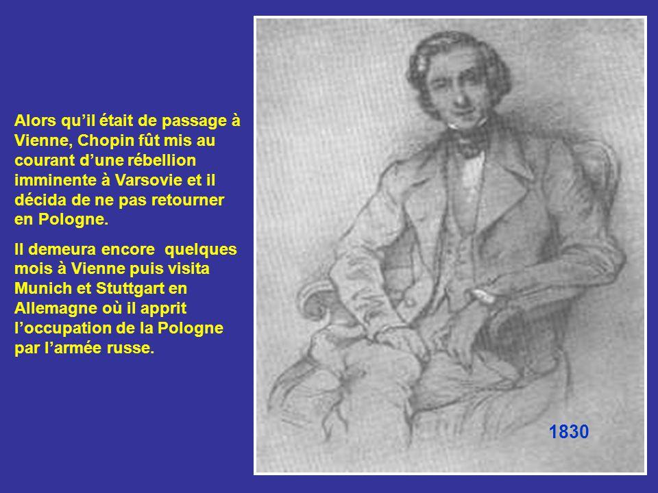 Lorsqu'il devait donner un récital, Chopin avait une nette préférence pour les espaces intimes tels que la demeure du comte et de la comtesse Radziwil, lui qui détestait jouer dans de grandes salles de concert.