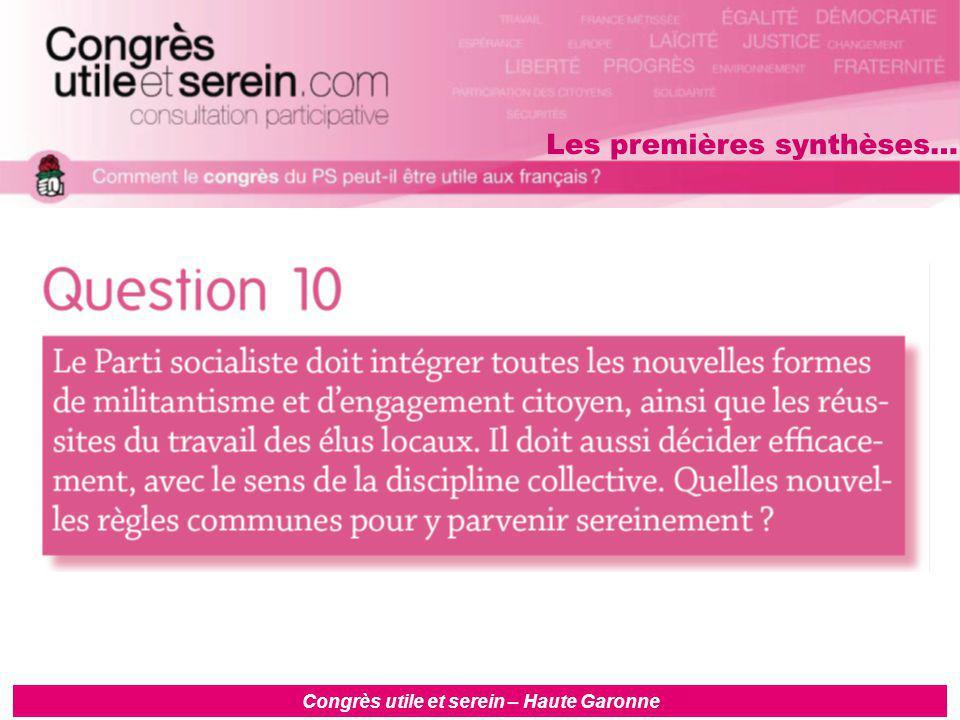 Congrès utile et serein – Haute Garonne