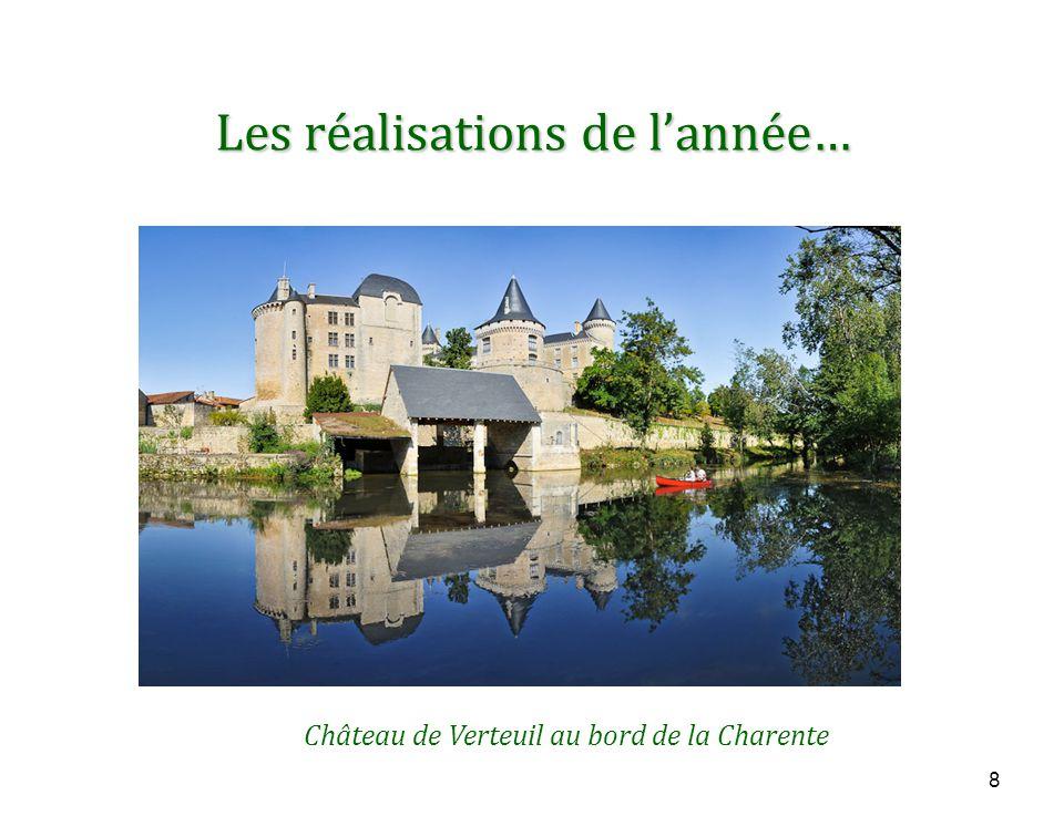 8 Les réalisations de l'année… Château de Verteuil au bord de la Charente