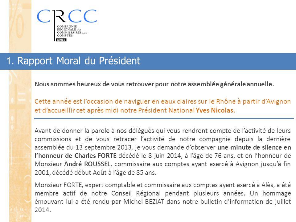 1. Rapport Moral du Président Nous sommes heureux de vous retrouver pour notre assemblée générale annuelle. Cette année est l'occasion de naviguer en