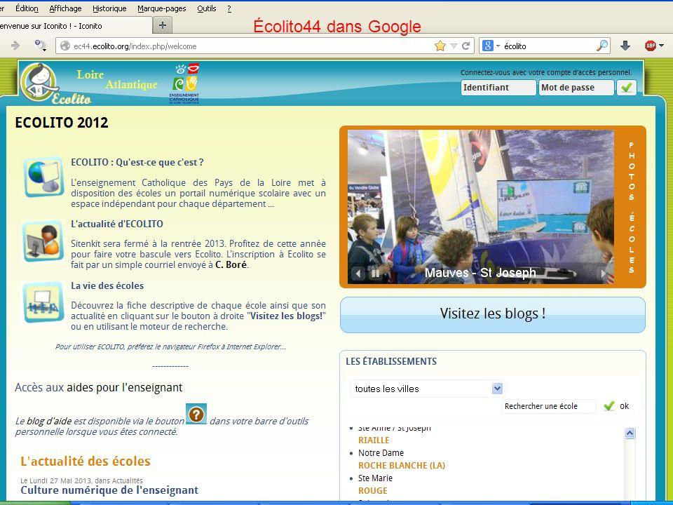 Écolito44 dans Google