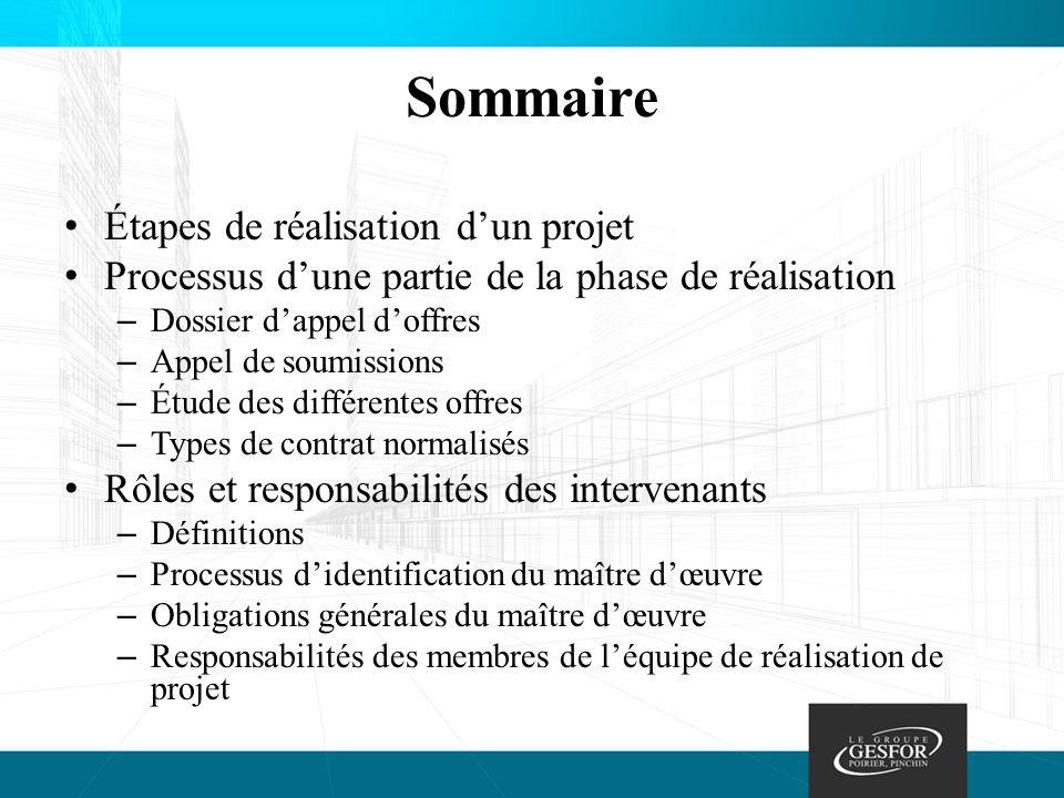 Processus d'identification du maître d'œuvre © Commission de la santé et de la sécurité du travail, du Québec