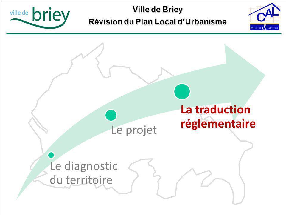 Ville de Briey Révision du Plan Local d'Urbanisme Le diagnostic du territoire Le projet La traduction réglementaire