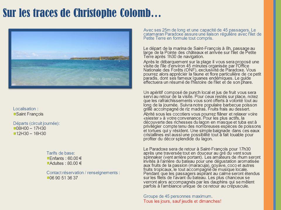 Envie de découvrir une Guadeloupe sauvage .