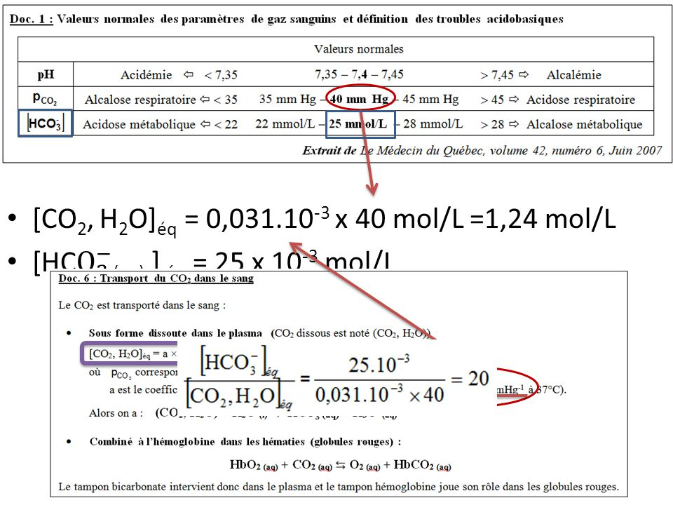Ce trouble est dû au problème pulmonaire qui empêche le CO 2 d'être éliminé et provoque cette acidose.
