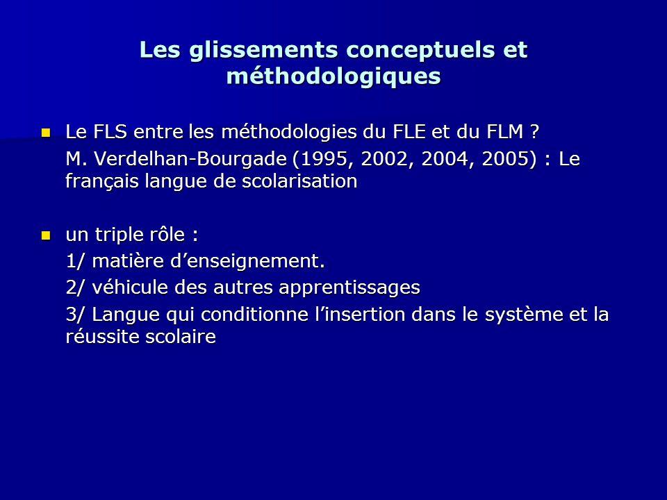 Les glissements conceptuels et méthodologiques Le FLS entre les méthodologies du FLE et du FLM ? Le FLS entre les méthodologies du FLE et du FLM ? M.
