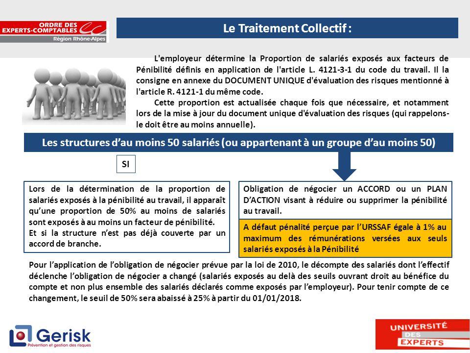 7 L'employeur détermine la Proportion de salariés exposés aux facteurs de Pénibilité définis en application de l'article L. 4121-3-1 du code du travai