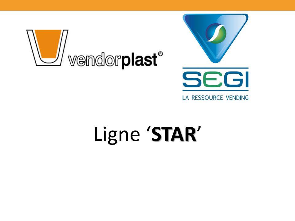 'STAR' GOBELETS AUTOMATIQUES LIGNE 'STAR' Une nouvelle série de gobelets pour la distribution automatique fabriqués par VENDORPLAST est disponible à partir de Janvier 2014.