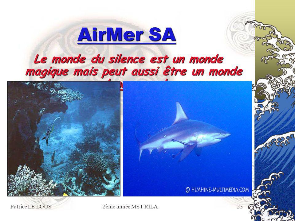 Patrice LE LOUS2ème année MST RILA24 AirMer SA oNotre passion pour le surf et la plongée sous- marine est la garantie que vos stages découverte se passeront de la meilleure des façons.
