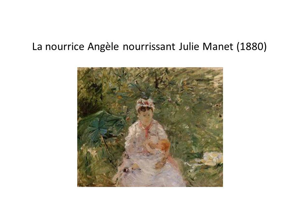 La nourrice Angèle nourrissant Julie Manet (1880)