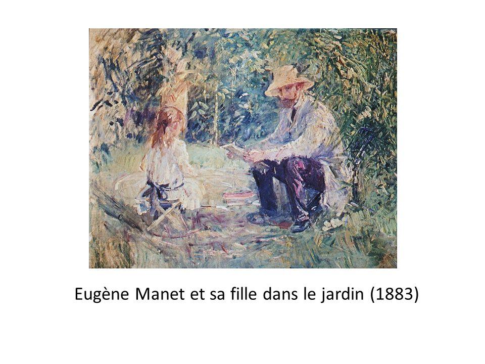 Eugène Manet et sa fille dans le jardin (1883)