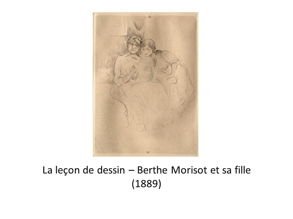 La leçon de dessin – Berthe Morisot et sa fille (1889)