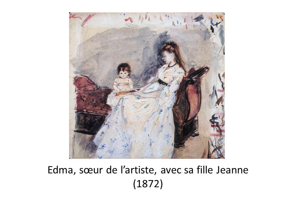 Edma, sœur de l'artiste, avec sa fille Jeanne (1872)
