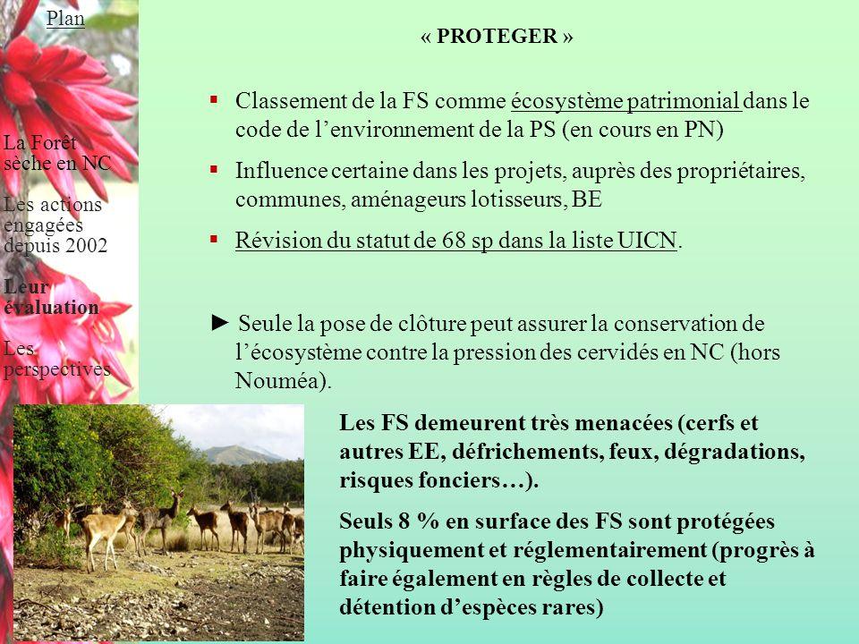 « PROTEGER »  Classement de la FS comme écosystème patrimonial dans le code de l'environnement de la PS (en cours en PN)  Influence certaine dans le