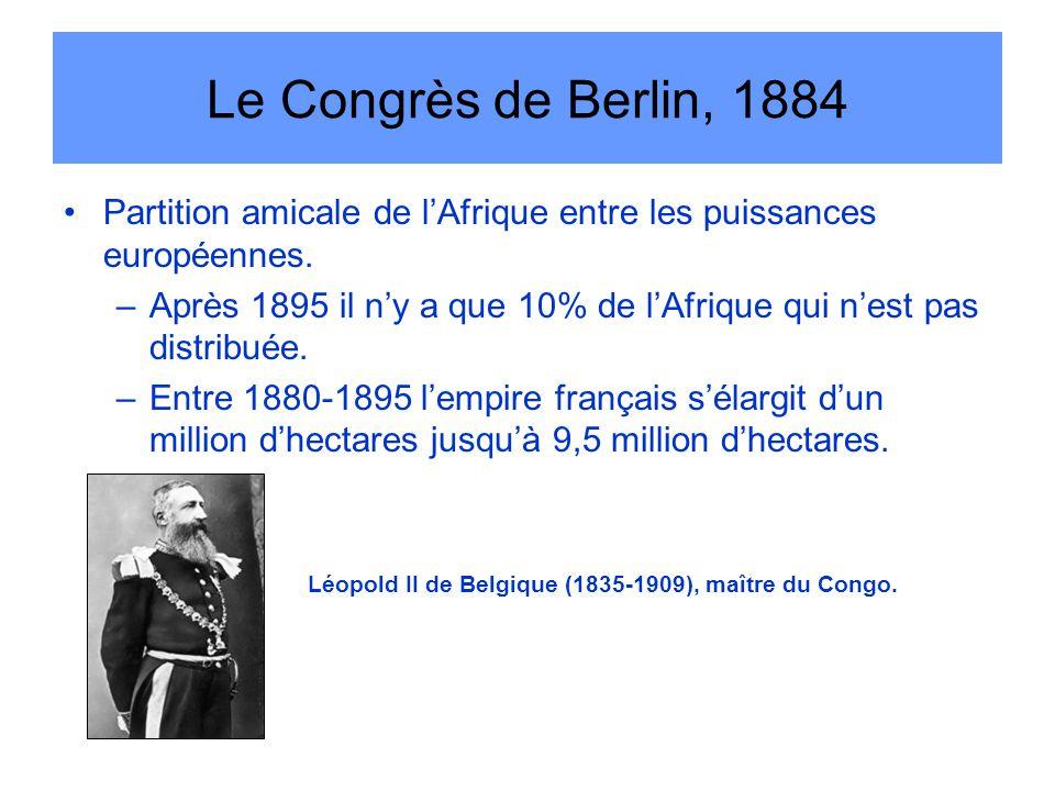 Le Congrès de Berlin, 1884 Partition amicale de l'Afrique entre les puissances européennes.