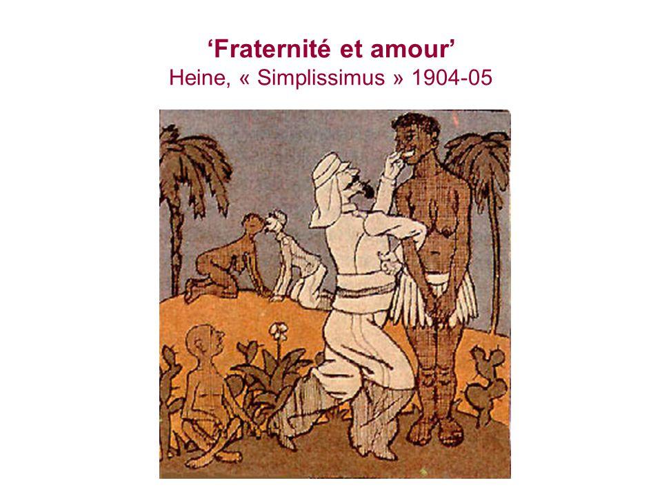 'Fraternité et amour' Heine, « Simplissimus » 1904-05