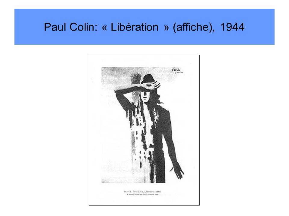 Paul Colin: « Libération » (affiche), 1944