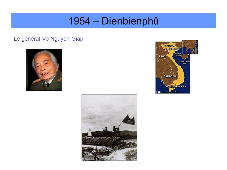 1954 – Dienbienphû Le général Vo Nguyen Giap