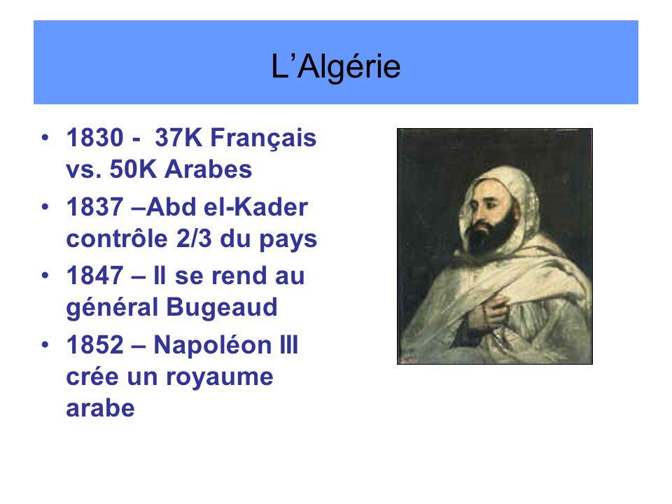 L'Algérie 1830 - 37K Français vs.