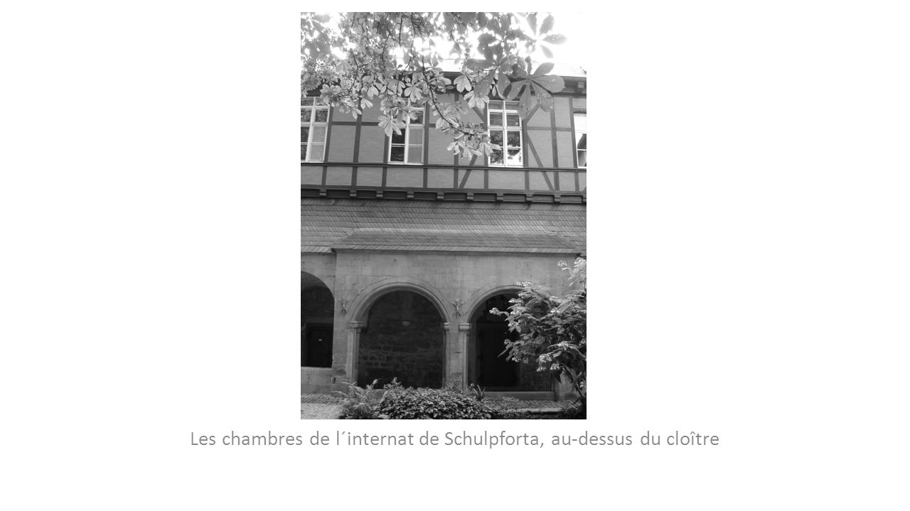Les chambres de l´internat de Schulpforta, au-dessus du cloître