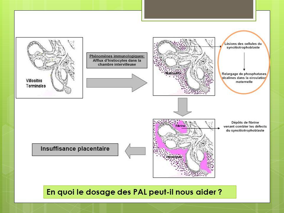 En quoi le dosage des PAL peut-il nous aider ?