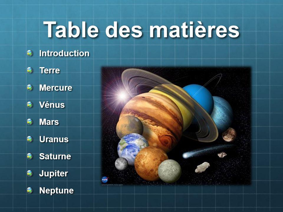 Introduction Notre système solaire contient 8 planètes qui tournent autour du soleil.