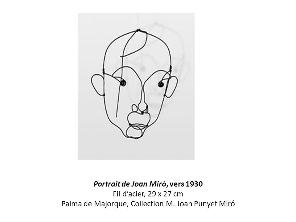 Portrait de Joan Miró, vers 1930 Fil d'acier, 29 x 27 cm Palma de Majorque, Collection M. Joan Punyet Miró