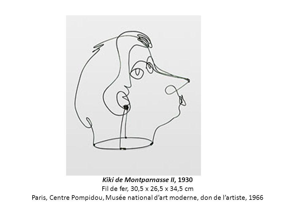 Kiki de Montparnasse II, 1930 Fil de fer, 30,5 x 26,5 x 34,5 cm Paris, Centre Pompidou, Musée national d'art moderne, don de l'artiste, 1966