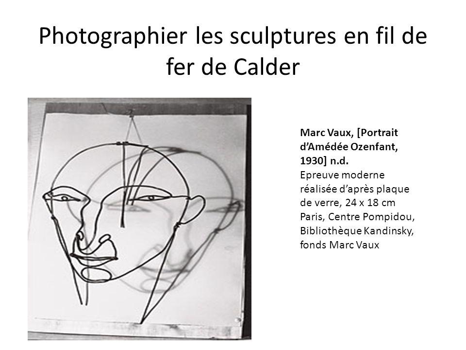 Photographier les sculptures en fil de fer de Calder Marc Vaux, [Portrait d'Amédée Ozenfant, 1930] n.d. Epreuve moderne réalisée d'après plaque de ver
