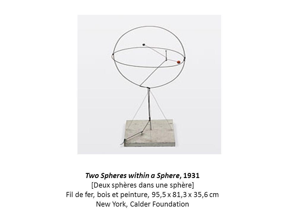 Two Spheres within a Sphere, 1931 [Deux sphères dans une sphère] Fil de fer, bois et peinture, 95,5 x 81,3 x 35,6 cm New York, Calder Foundation