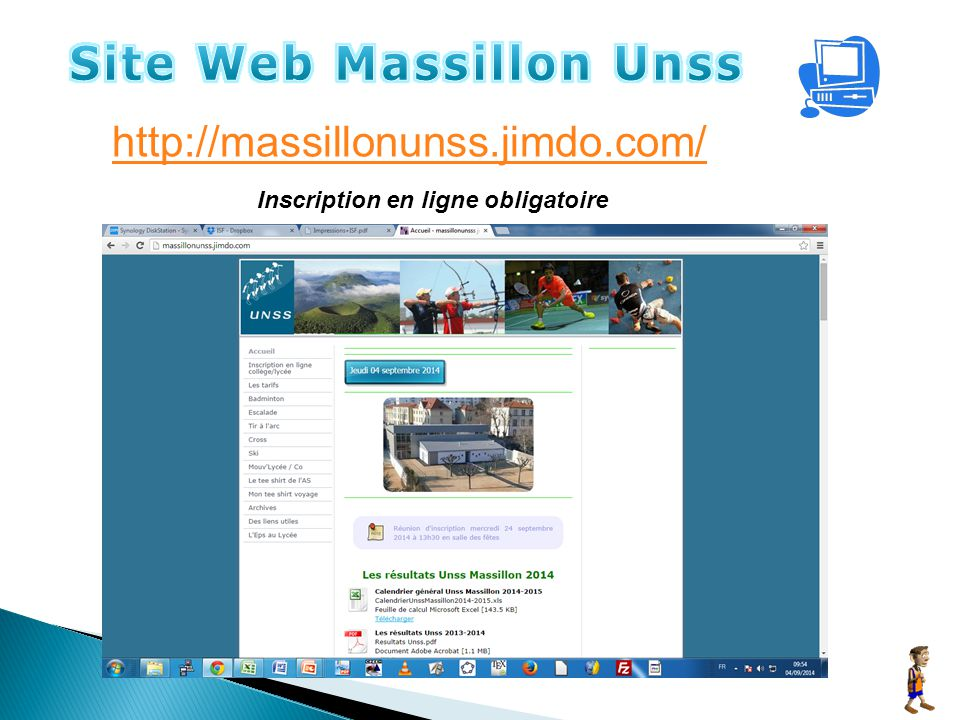 http://massillonunss.jimdo.com/ Inscription en ligne obligatoire