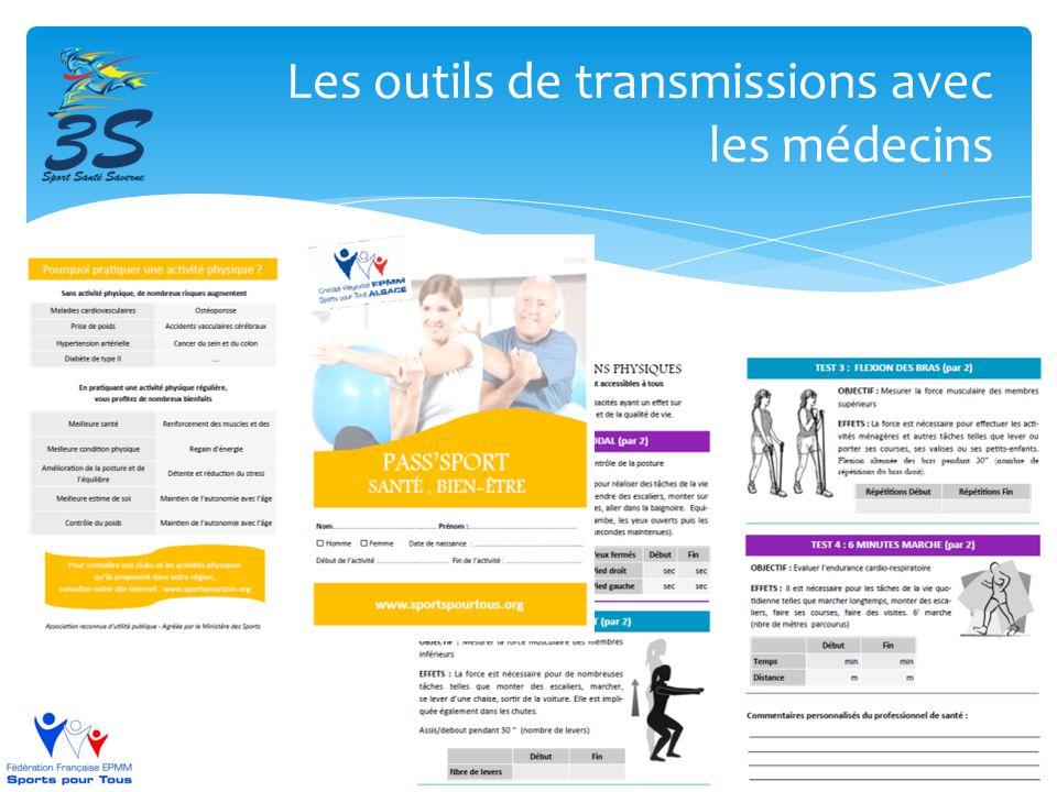 Les outils de transmissions avec les médecins
