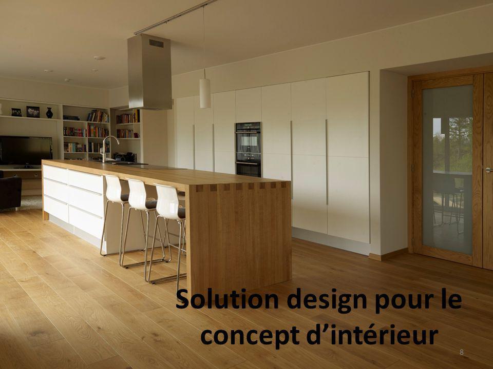 Solution design pour le concept d'intérieur 8