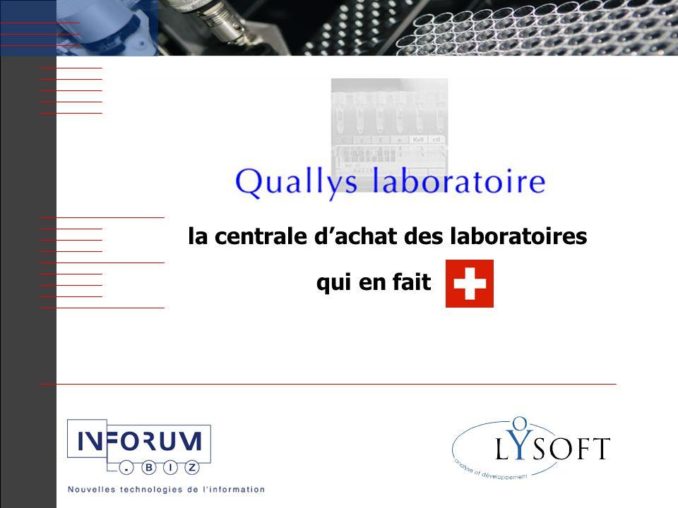 2 LYSOFT SA Sommaire Diagnostic du marché Quallys laboratoire: l'historique Quallys Laboratoire: une réponse globale Démonstration du logiciel Questions