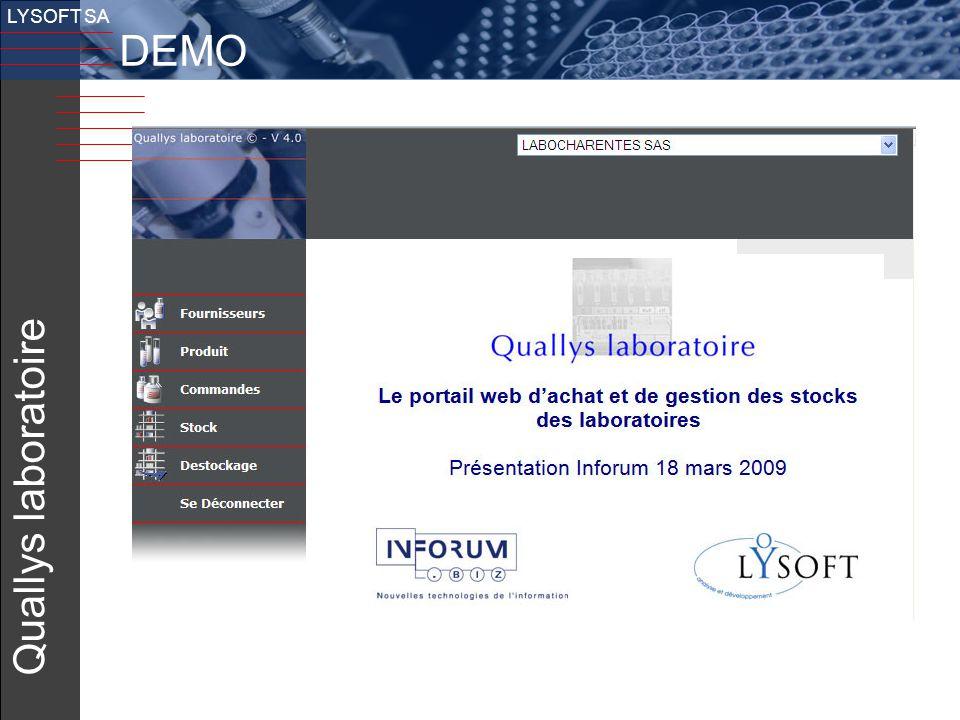 22 v LYSOFT SA Quallys laboratoire DEMO