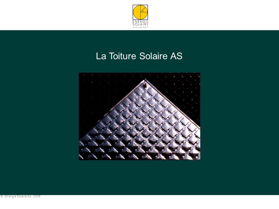 © Energie Solaire SA 2005 TOITURE SOLAIRE AS: APPLICATIONS PISCINES Piscine de Lenk (CH) - 492 m 2
