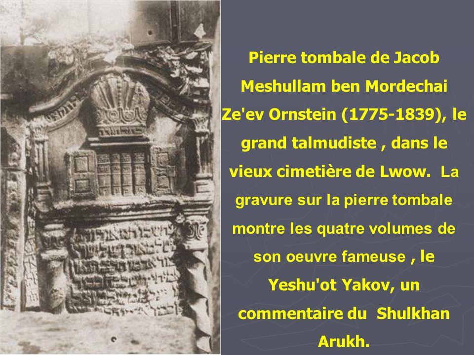 La tombe of Rabbi Eliha (1720-1797), le Gaon de Vilna. On aperçoit derrière la tombe un arbre qui, selon la légende aurait poussé de la tombe de Walen