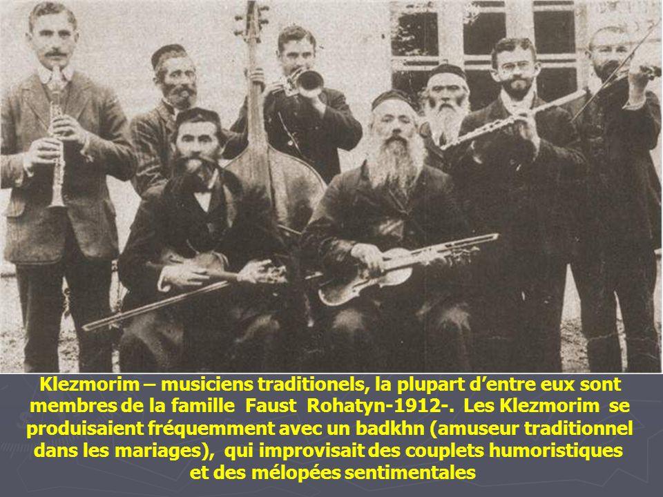 Zisl, le musicien de rue. Staszow - 1930 -