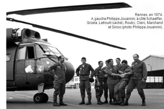 Rennes, en 1974. A gauche Philippe Jouannin, à côté Schaeffer, Grzela, Letrouit (caché), Rouby, Clerc, Marchand et Sinoo (photo Philippe Jouannin).