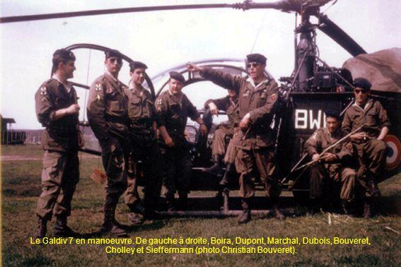 Le Galdiv 7 en manoeuvre. De gauche à droite, Boira, Dupont, Marchal, Dubois, Bouveret, Cholley et Sieffermann (photo Christian Bouveret).