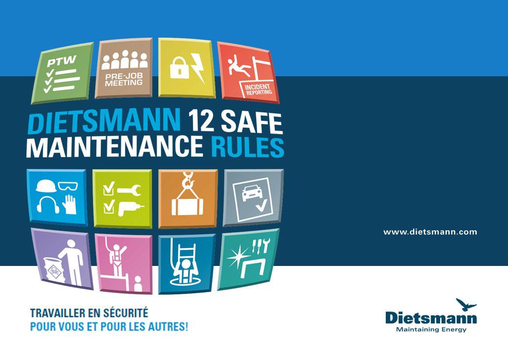 December 12, 2014   2 sont incluses dans le Système de Management HSE NOS 12 REGLES 12 SAFE MAINTENANCE RULES Charte HSE Politiques HSE