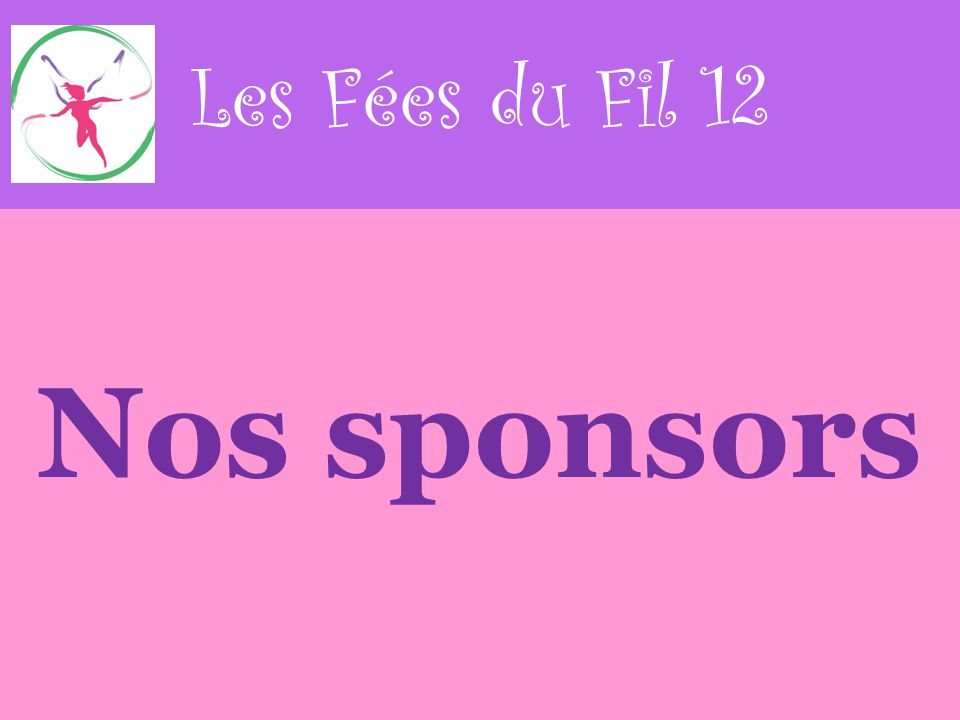 Nos sponsors Les Fées du Fil 12