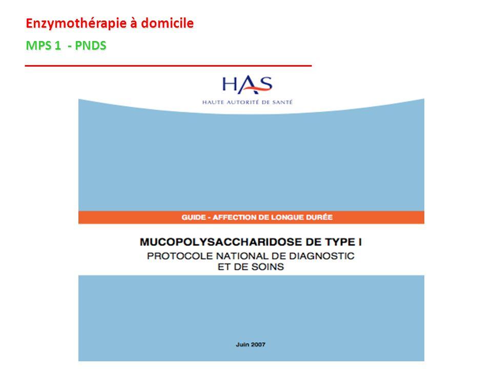 Enzymothérapie à domicile MPS 1 - PNDS