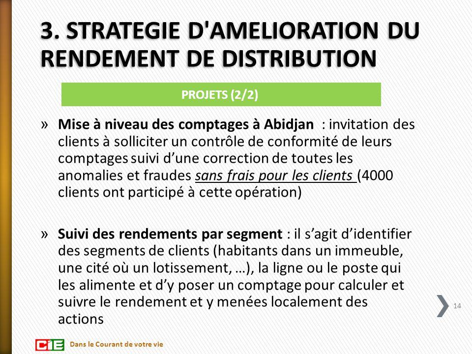 » Mise à niveau des comptages à Abidjan : invitation des clients à solliciter un contrôle de conformité de leurs comptages suivi d'une correction de t