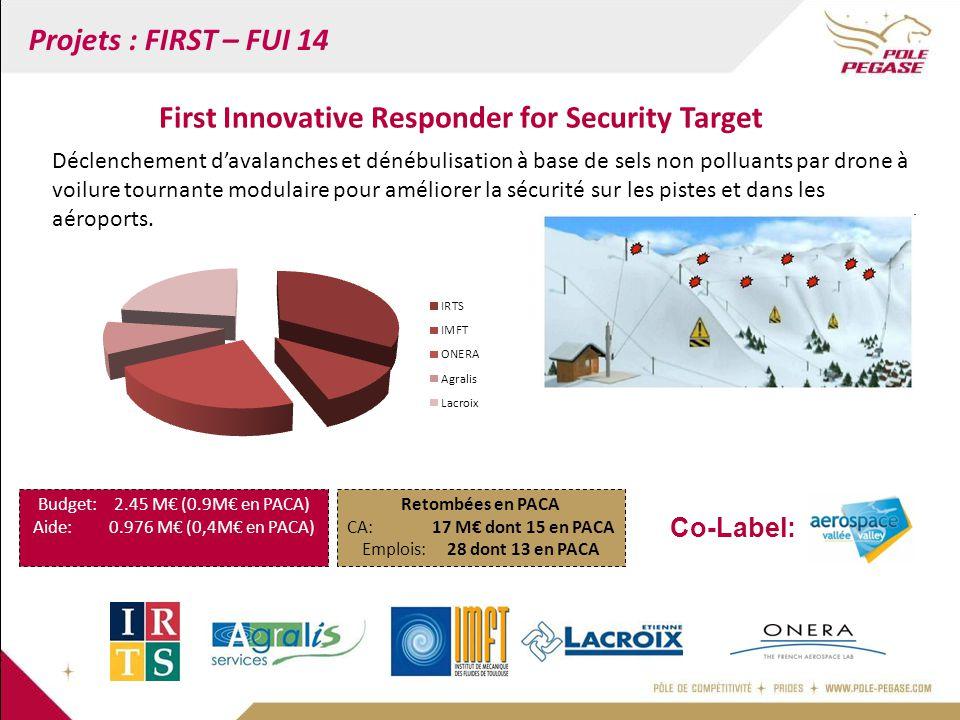 Projets : FIRST – FUI 14 Déclenchement d'avalanches et dénébulisation à base de sels non polluants par drone à voilure tournante modulaire pour amélio