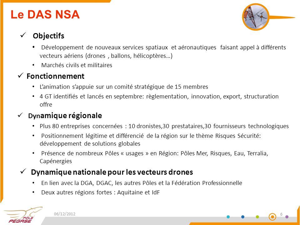 Projets : HORUS – FUI 13 Développement d'une plate-forme aérostatique captive modulaire à faible coût de mise en œuvre offrant de nouvelles capacités de surveillance, adaptées à la sécurité dans les domaines maritimes et terrestres: -Surveillance maritime et terrestre -Surveillance de théâtres pour la gestion de crise Budget:3.32 M€ (1,7M€ en PACA) Aide:1.08 M€ (0,6M€ en PACA) Durée:30 mois Retombées en PACA CA:entre 3.5 – 5 M€ Emplois:env.