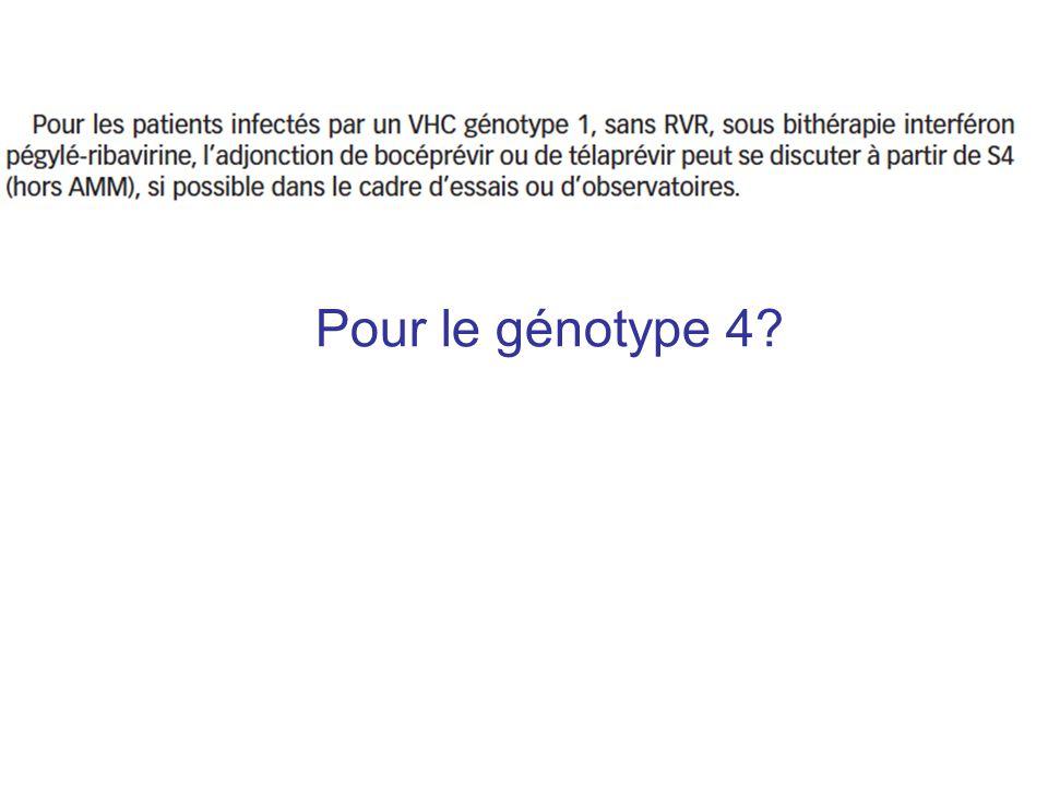Pour le génotype 4?