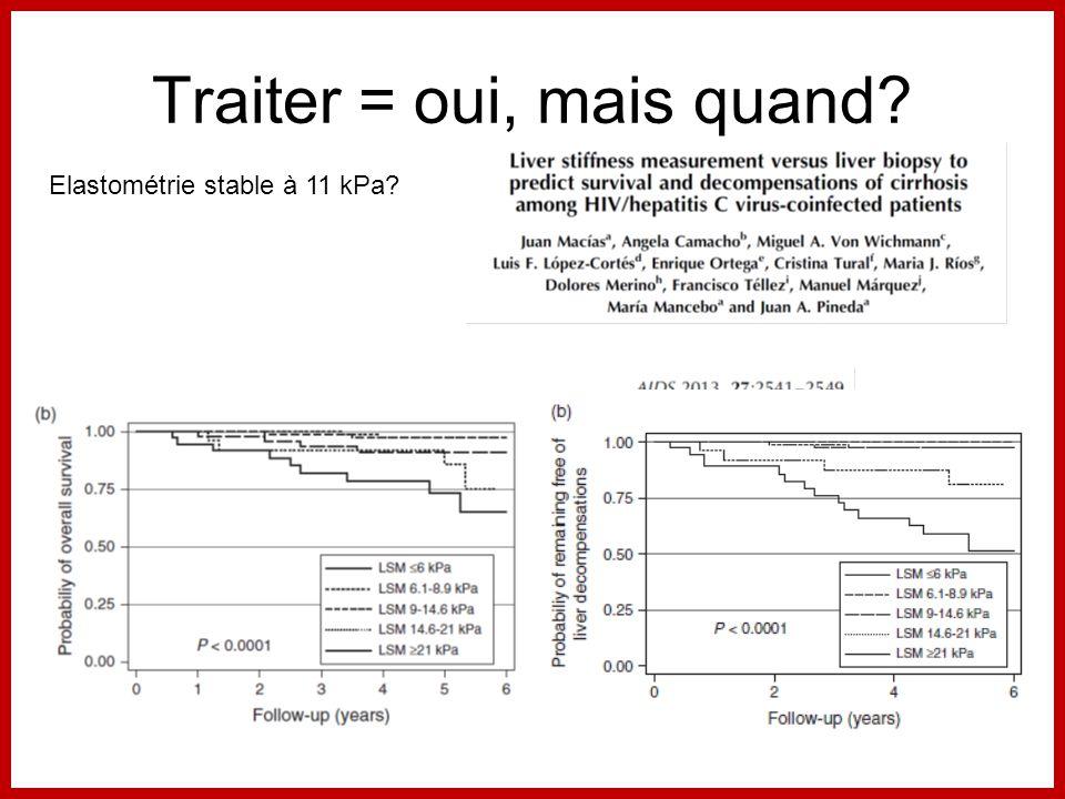 Traiter = oui, mais quand? Elastométrie stable à 11 kPa?